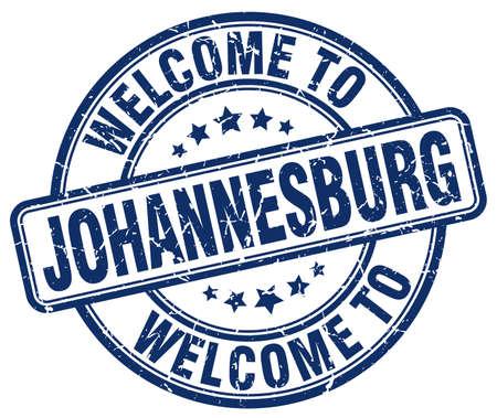 johannesburg: welcome to Johannesburg blue round vintage stamp