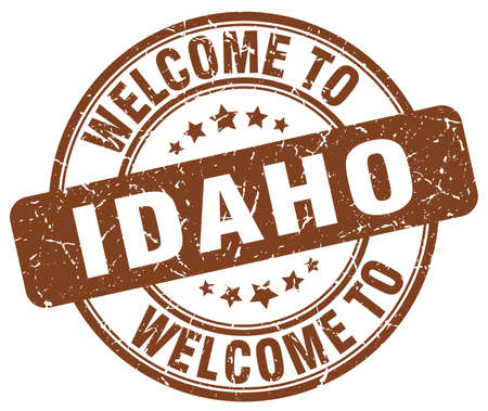 idaho: welcome to Idaho brown round vintage stamp