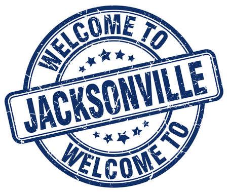 jacksonville: welcome to Jacksonville blue round vintage stamp Illustration