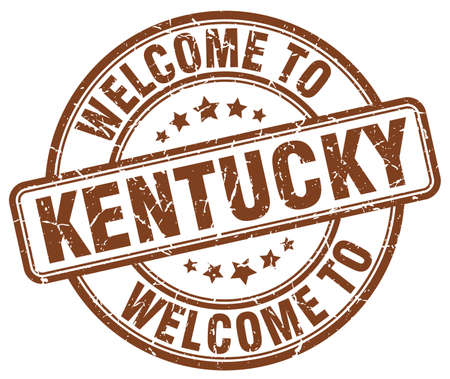 kentucky: welcome to Kentucky brown round vintage stamp Illustration