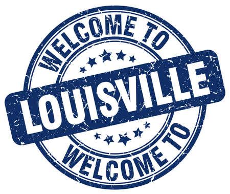 louisville: welcome to Louisville blue round vintage stamp Illustration