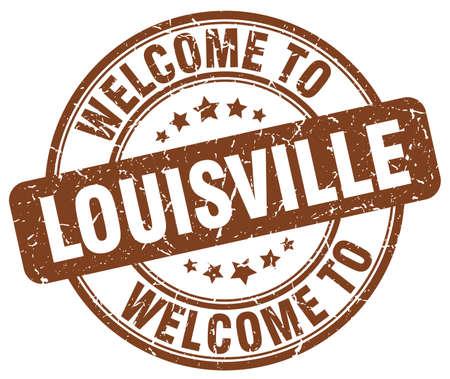 louisville: welcome to Louisville brown round vintage stamp