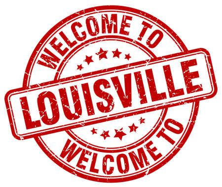 louisville: welcome to Louisville red round vintage stamp