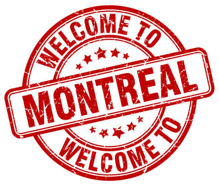 montreal: welcome to Montreal red round vintage stamp Illustration