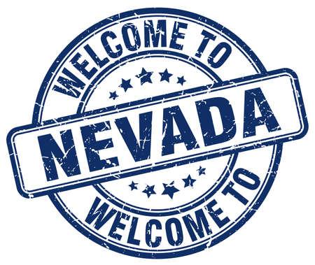 nevada: welcome to Nevada blue round vintage stamp