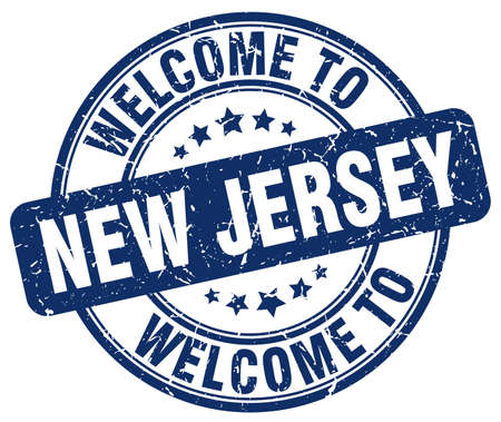 new jersey: welcome to New Jersey blue round vintage stamp Illustration