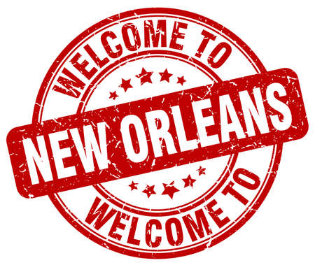 new orleans: welcome to New Orleans red round vintage stamp Illustration
