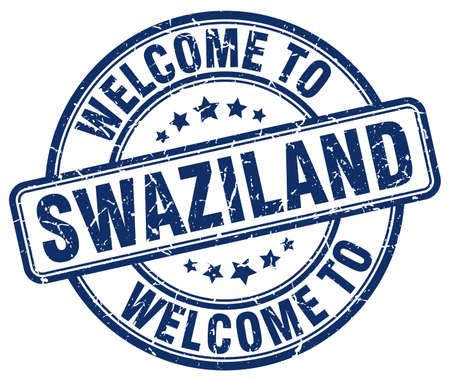 swaziland: welcome to Swaziland blue round vintage stamp Illustration