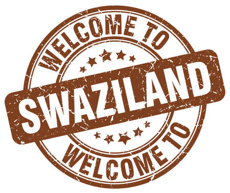 swaziland: welcome to Swaziland brown round vintage stamp