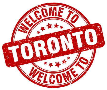 toronto: welcome to Toronto red round vintage stamp Illustration
