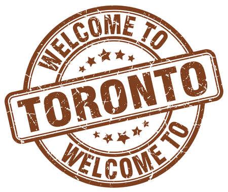 toronto: welcome to Toronto brown round vintage stamp Illustration