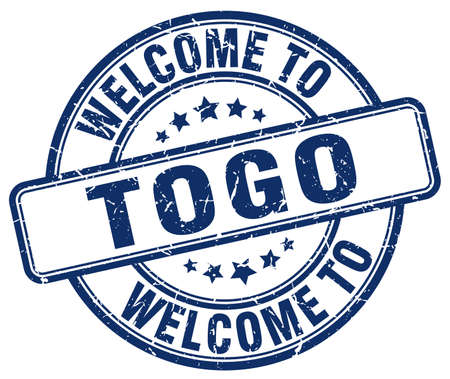 togo: welcome to Togo blue round vintage stamp