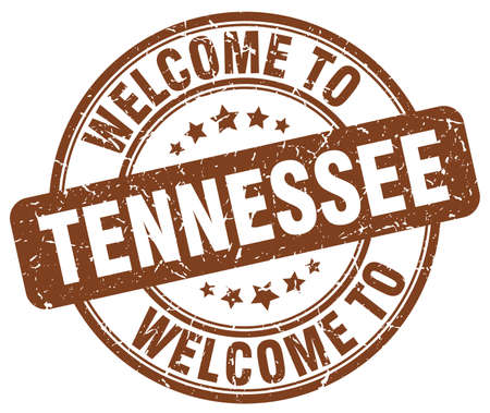 tennesse: welcome to Tennessee brown round vintage stamp
