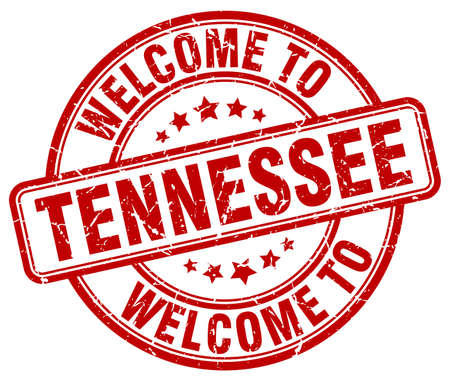 tennessee: welcome to Tennessee red round vintage stamp Illustration