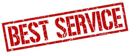 best service: best service red grunge square vintage rubber stamp