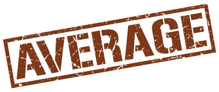 average: average brown grunge square vintage rubber stamp