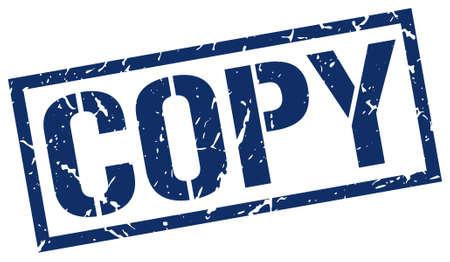 copy: copy blue grunge square vintage rubber stamp Illustration