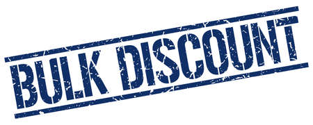 bulk: bulk discount blue grunge square vintage rubber stamp