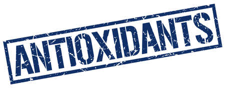 antioxidants: antioxidants blue grunge square vintage rubber stamp