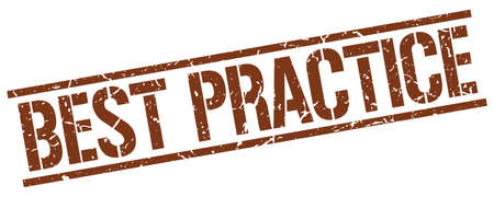 best practice: best practice brown grunge square vintage rubber stamp Illustration