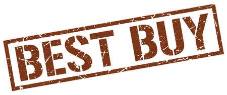best buy: best buy brown grunge square vintage rubber stamp
