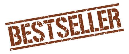bestseller: bestseller brown grunge square vintage rubber stamp