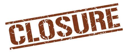 closure: closure brown grunge square vintage rubber stamp Illustration