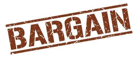 bargains: bargain brown grunge square vintage rubber stamp