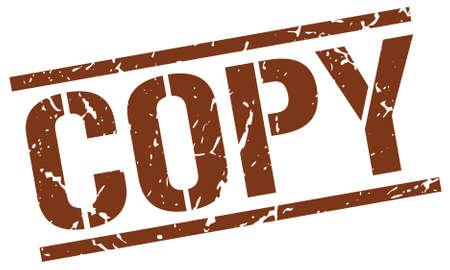 copy: copy brown grunge square vintage rubber stamp