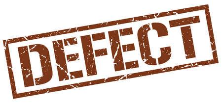 defect: defect brown grunge square vintage rubber stamp