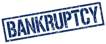bankruptcy: bankruptcy blue grunge square vintage rubber stamp Illustration
