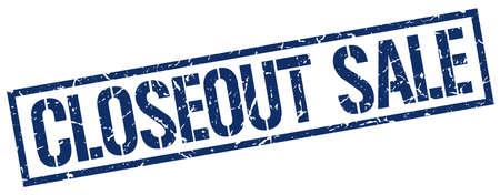 closeout: closeout sale blue grunge square vintage rubber stamp Illustration