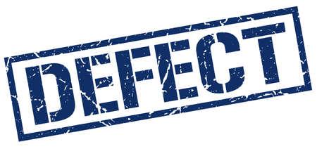 defect: defect blue grunge square vintage rubber stamp