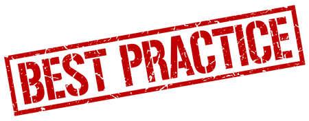 practice: best practice red grunge square vintage rubber stamp