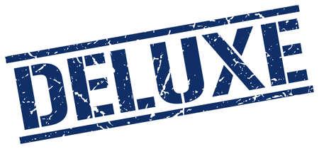 deluxe: deluxe blue grunge square vintage rubber stamp Illustration