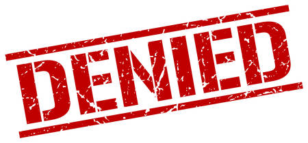 denied: denied red grunge square vintage rubber stamp