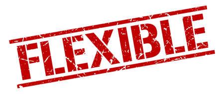 flexible: flexible red grunge square vintage rubber stamp Illustration