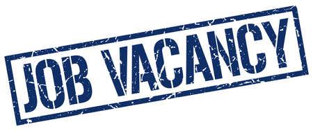 job vacancy: job vacancy blue grunge square vintage rubber stamp