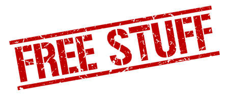 stuff: free stuff red grunge square vintage rubber stamp
