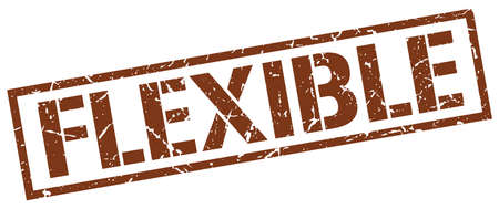 flexible: flexible brown grunge square vintage rubber stamp Illustration