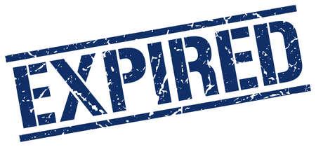 expired: expired blue grunge square vintage rubber stamp Illustration