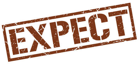 expect: expect brown grunge square vintage rubber stamp