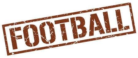 grunge football: football brown grunge square vintage rubber stamp Illustration