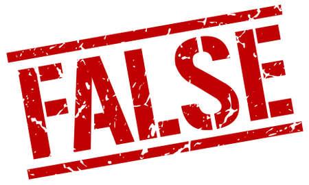 falso: falsa grunge rojo de la vendimia cuadrada sello de goma Vectores