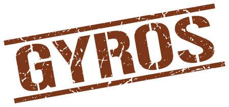 gyros: gyros brown grunge square vintage rubber stamp Illustration