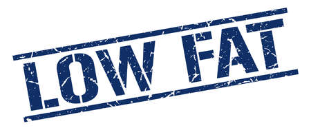 low fat: low fat blue grunge square vintage rubber stamp