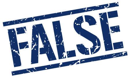 falso: falsa grunge cosecha azul cuadrada sello de goma Vectores