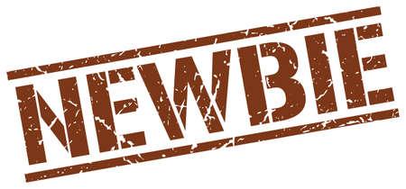 newbie: newbie brown grunge square vintage rubber stamp