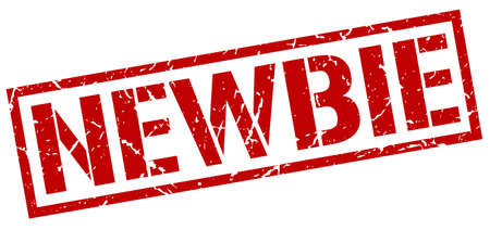 newbie: newbie red grunge square vintage rubber stamp