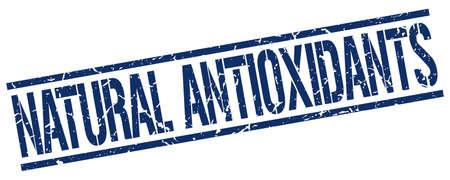 antioxidants: natural antioxidants blue grunge square vintage rubber stamp